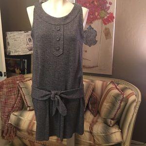 Tibi Gray Sleeveless Drop Waist Dress 4